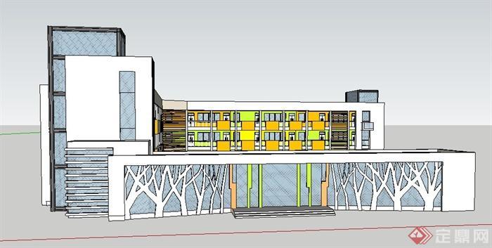 教学楼内部建筑图片