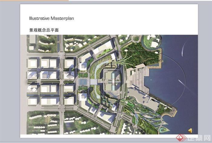 蘇州某現代風格中心廣場景觀概念設計ppt方案[原創]