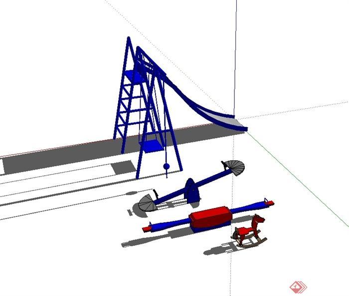 某儿童游乐器械设施设计su模型[原创]