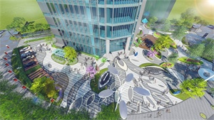 浐灞发展大厦景观方案设计 | 拾光作品