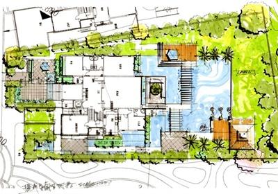 大江景欧式风格别墅区庭院景观规划设计JPG方案