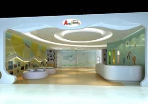 某现代风格教育空间设计3d模型