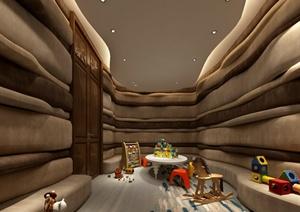 某现代风格幼儿园教室空间设计3d模型