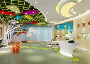 某现代风格教育培训空间设计3d模型