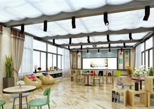 某现代风格详细精致幼儿园教育空间设计3d模型