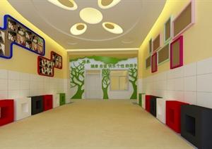 某现代风格幼儿园空间设计3d模型