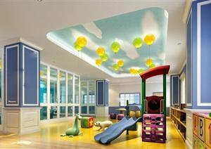 某现代风格幼儿园教育空间设计3d模型