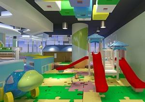 某现代风格儿童游乐文化教育空间设计3d模型