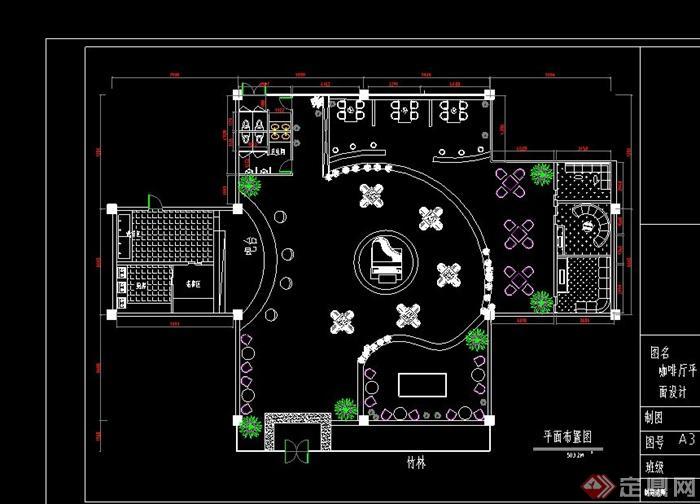 某现代图像咖啡厅v图像CAD风格图[缩小]cad2010原创方案图片