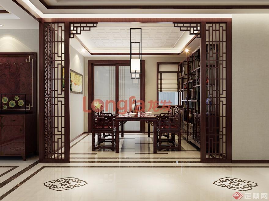 餐厅 古典中式 装修效果图图片