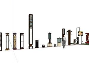 现代中式风格灯具设计合集SU(草图大师)模型