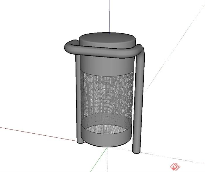 现代路边垃圾桶设计su模型[原创]