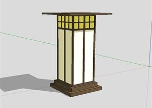 日式风格景观灯柱设计SU(草图大师)模型
