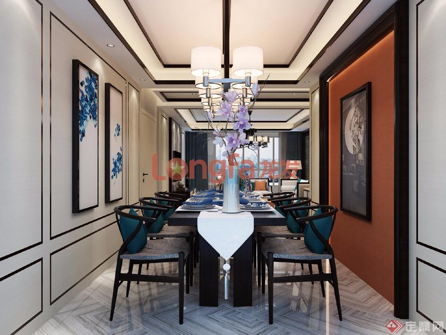 餐厅 凯旋城 新中式风格 装修效果图图片
