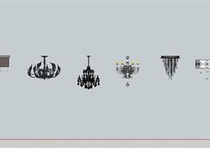 灯具设计合集SU(草图大师)模型