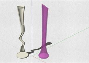 现代简约花瓶设计SU(草图大师)模型