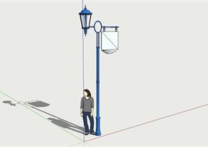 欧式简约商业街道灯具设计SU(草图大师)模型