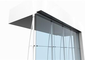 现代风格吊挂式玻璃幕墙设计SU(草图大师)模型