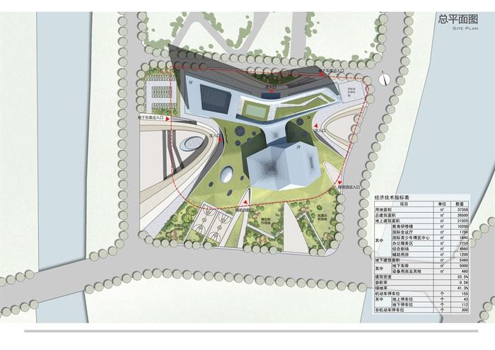 某现代风格详细博物馆活动中心建筑设计jpg方案[原创]