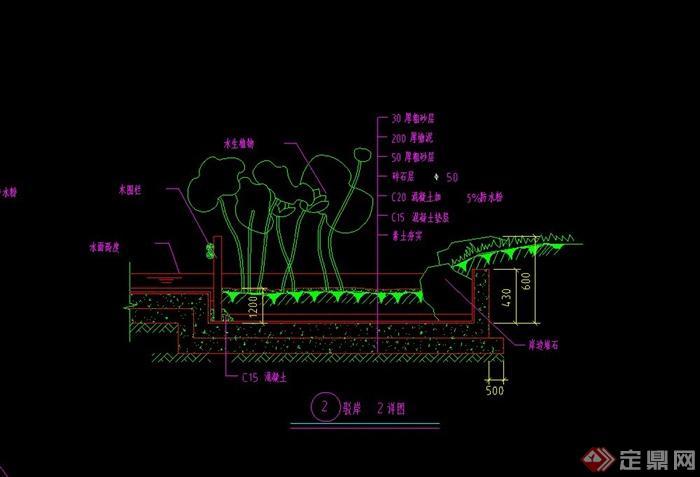 驳岸设计CAD施工图(1)