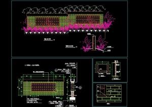 围墙立面设计CAD方案图
