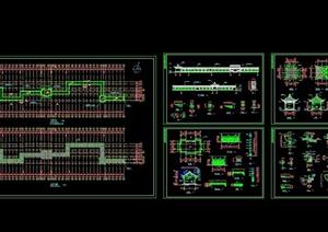 长廊设计CAD施工图