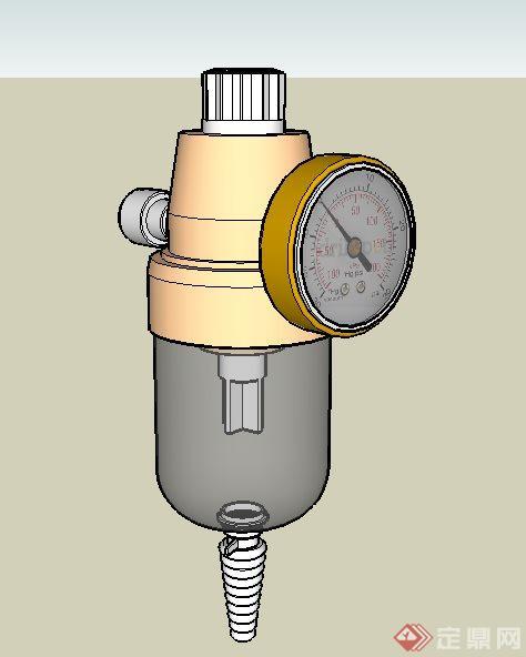 氧气罐压力表su模型[原创]