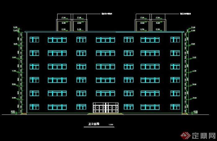某6层框架办公楼带电梯设计计算书及建筑结构施工图-4600平米[原创]图片