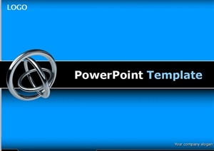 3D金属环背景毕业论文模板设计PPT文档