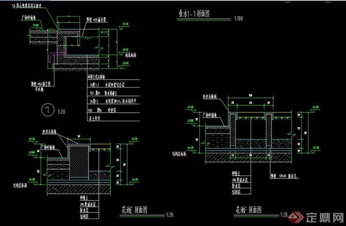 欧式风格入口广场叠水 花池 花盆设计CAD施工图,附件包含CAD施工图,设计完整,精致美观,包含剖面、平面、立面图,图纸整洁清除,具有一定的参考价值,欢迎下载。