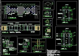 廊架平面剖面及构造详图