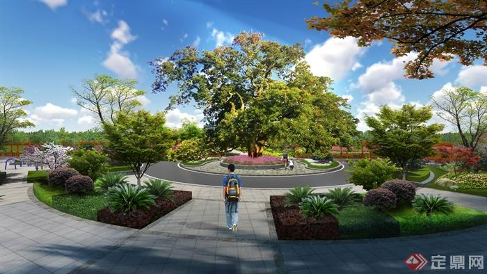 休闲广场景观效果图-广场广场景观休闲广场花坛-设计