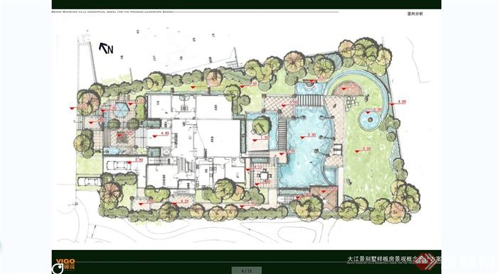 大江景歐式風格別墅區庭院景觀規劃設計jpg方案[原創]