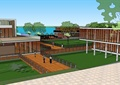 某现代风格滨海度假村建筑设计SU模型
