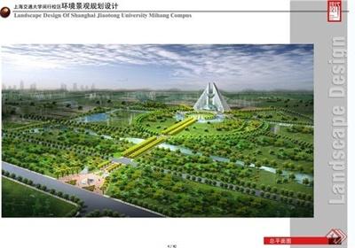 上海交大闵行校区景观规划设计JPG方案含CAD方案图