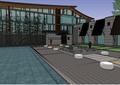 某现代中式风格精致办公楼建筑设计SU模型