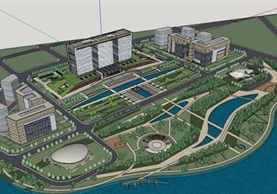 某现代风格高层政府办公建筑设计SU模型