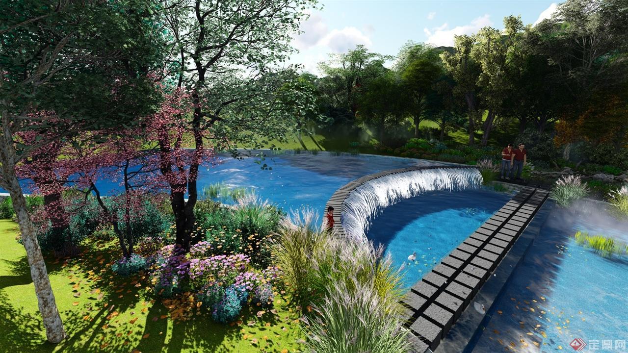 思茅河上游段生态景观设计,在尽可能不破坏原生态