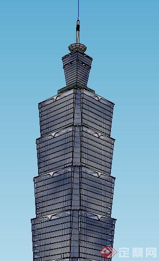 现代广播电视塔中心建筑Su模型(3)