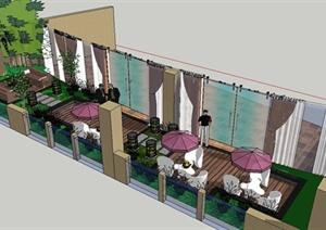 某现代风格会议室露台景观设计SU(草图大师)模型