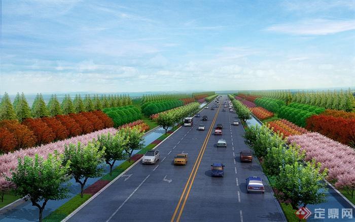 临沂市经济技术开发区东外环樱花大道-道路道职称评定中级机械如何设计图片