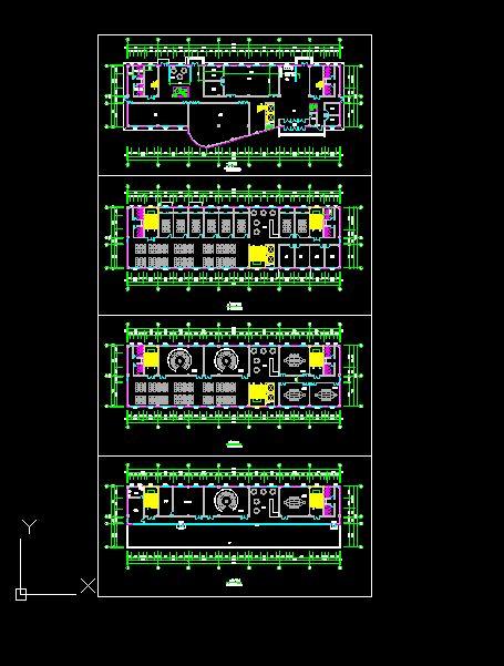 5层办公楼设计cad平面图[原创]图片
