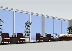 某现代风格阳台规划设计SU(草图大师)模型