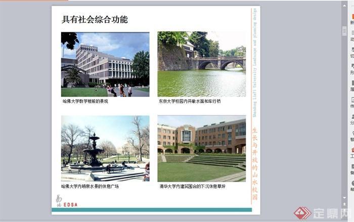 临沂山东方案大学规划设计PPT景观[绘制]visio2003原创图片