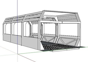 简约景观廊设计SU(草图大师)模型