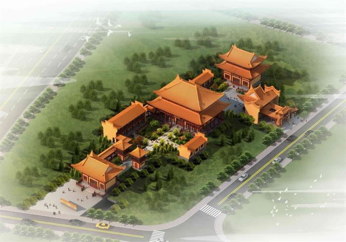 某古典中式风格庙宇建筑设计3dmax含jpg效果图[原创]