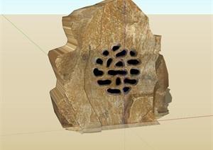 某现代风格音乐假山石头设计SU(草图大师)模型