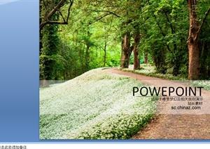 精美森林公园模板设计PPT文档