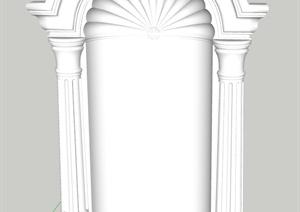 欧式构件设计SU(草图大师)模型