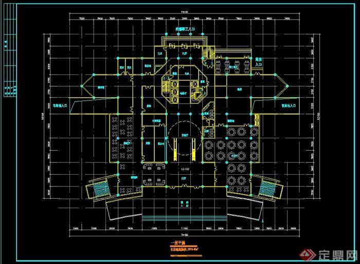 代风格酒店设计cad平面图方案